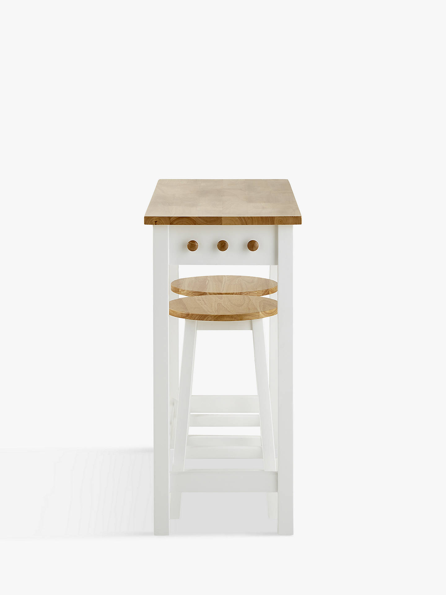 Buy John Lewis & Partners Adler Bar Table & Stools, Cream Online at johnlewis.com