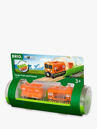 Brio World Cargo Train and Tunnel