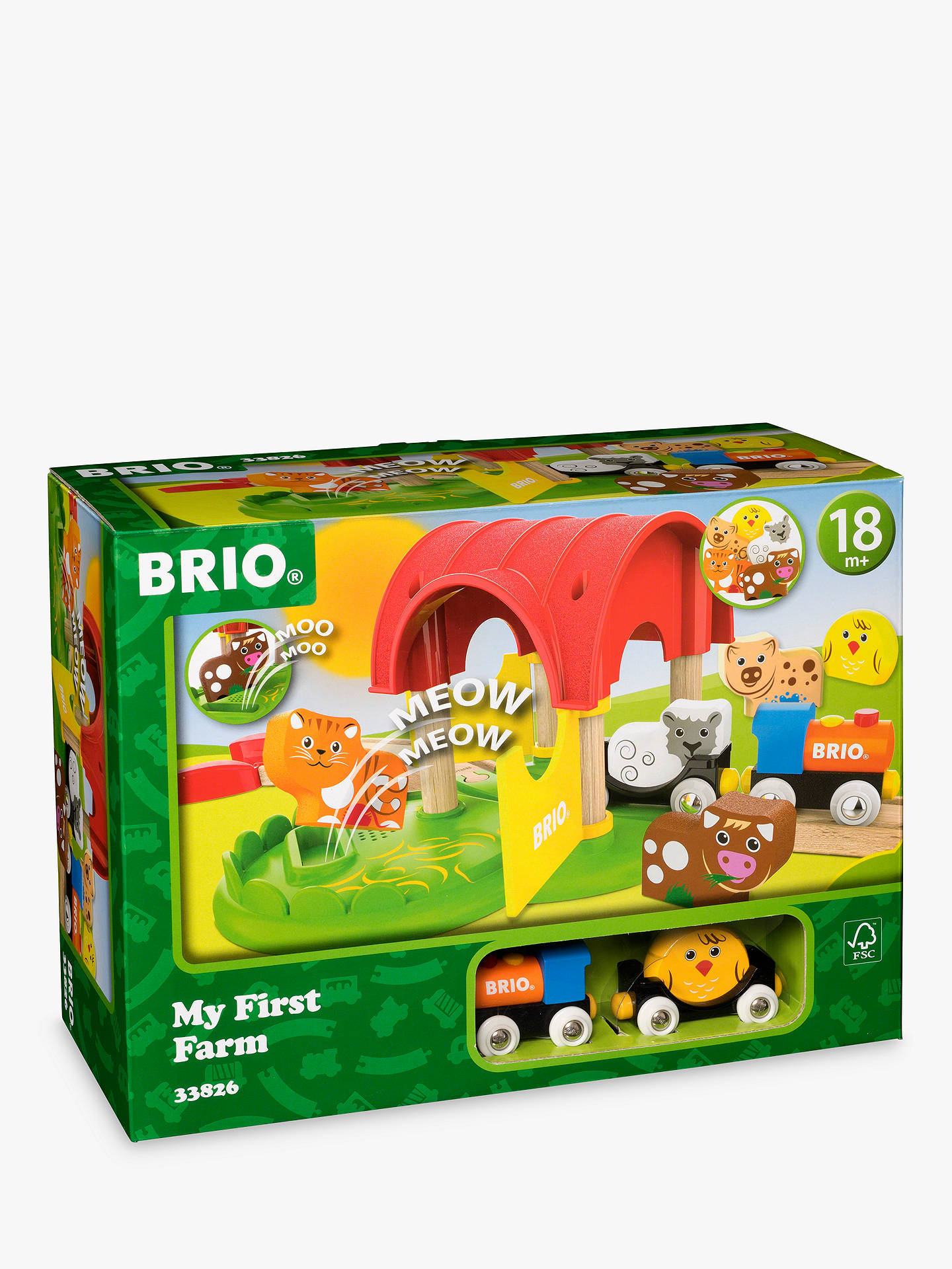 Buy BRIO My First Railway Farm Online at johnlewis.com