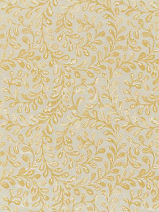 John Lewis & Partners Vera Leaf Furnishing Fabric, Gold