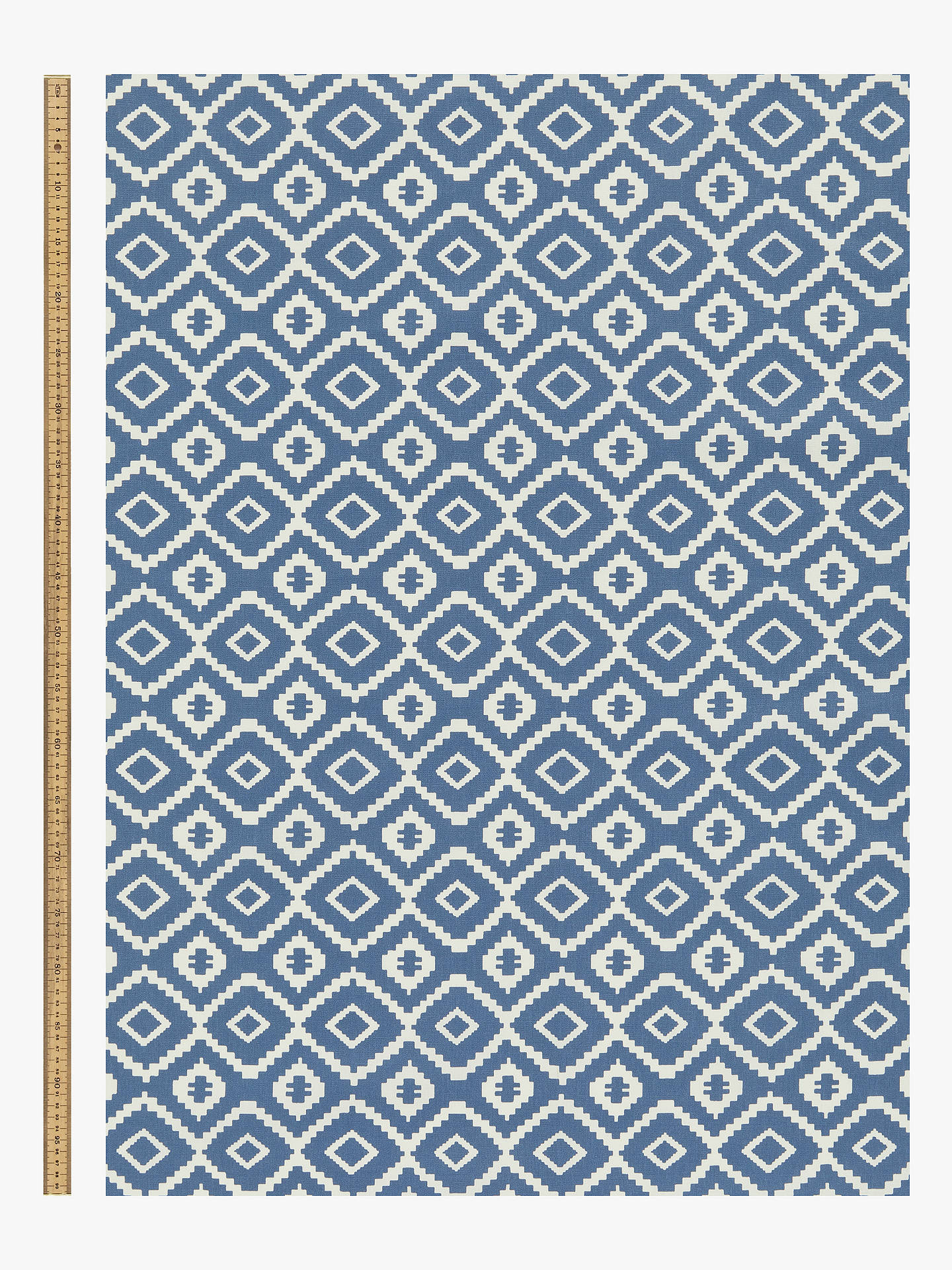 Buy John Lewis & Partners Nazca PVC Tablecloth Fabric, Indian Blue Online at johnlewis.com