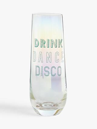 John Lewis & Partners Disco Flute Glasses, 600ml, Set of 2