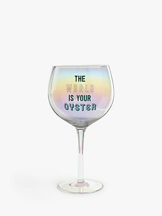 John Lewis & Partners World Oyster Gin Glass, 700ml