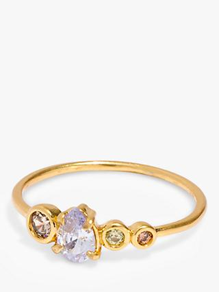Madewell Crystal Ring, Gold/Multi
