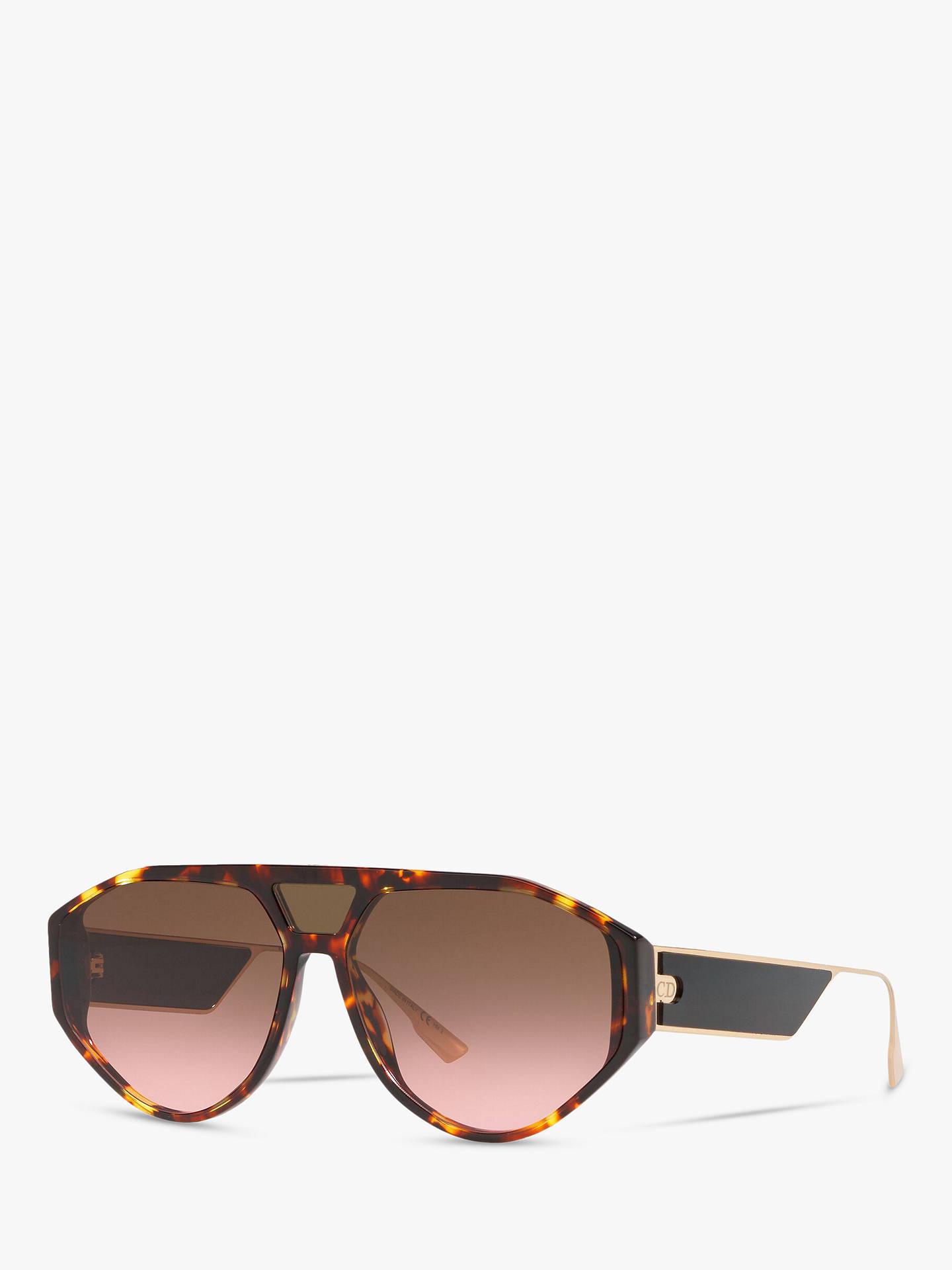5db9bbaa4481 Buy Dior DiorClan1 Women's Aviator Sunglasses, Tortoise/Brown Pink Online  at johnlewis. ...