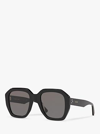 Celine CL4045IN Women's Rectangular Sunglasses, Black