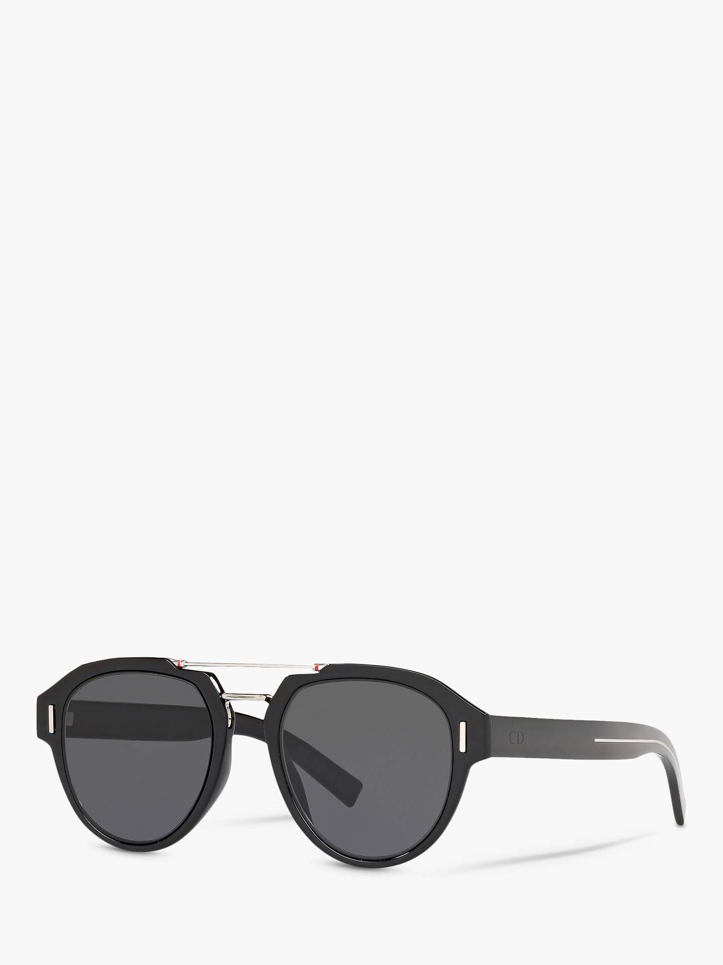 deb6ad8ce857 Buy Dior DiorFraction50 Women's Aviator Sunglasses, Black/Grey Online at  johnlewis. ...