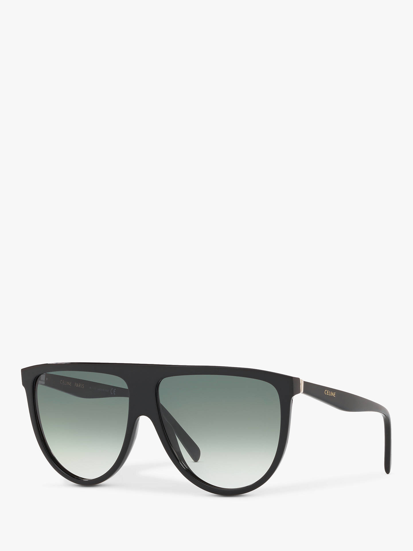 Celine Cl4006 In Women's Rectangular Sunglasses, Black/Pale Green Gradient by Celine