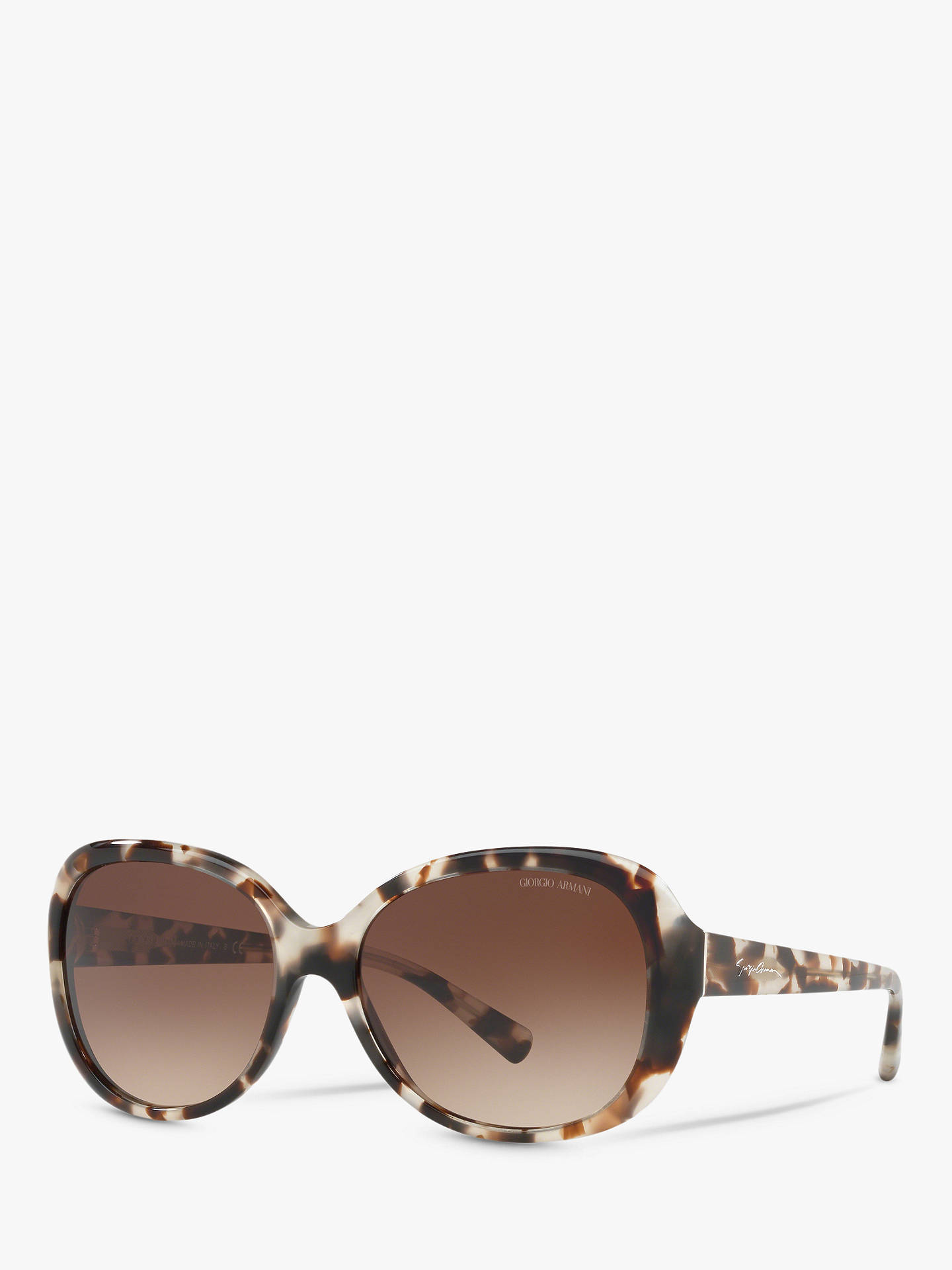 a85260016 Buy Giorgio Armani AR8047 Women's Round Sunglasses, Beige Havana/Brown  Gradient Online at johnlewis ...