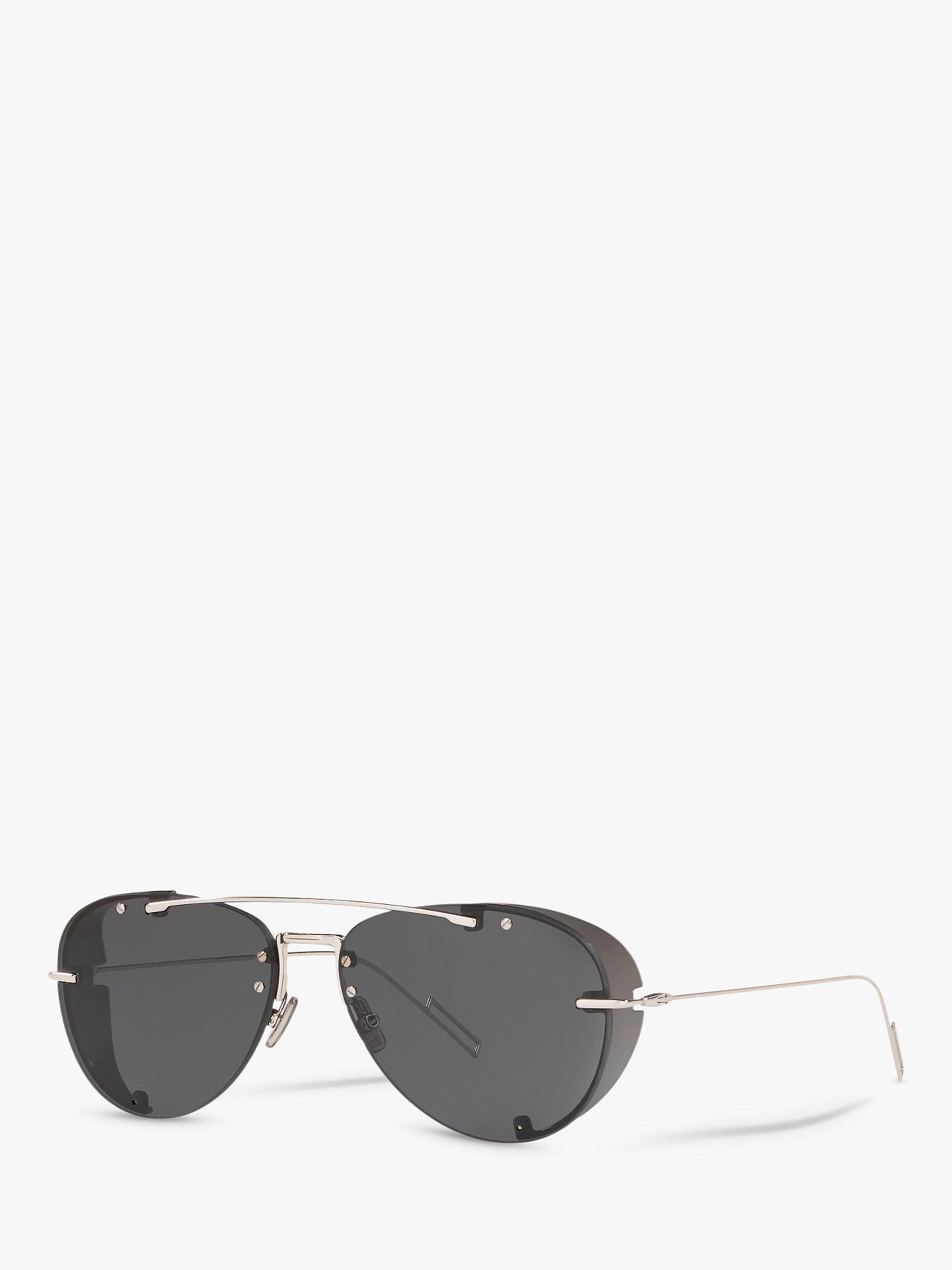 6ac260e1a7b5 Buy Dior DiorChroma1 Women's Aviator Sunglasses, Silver/Dark Grey Online at  johnlewis. ...