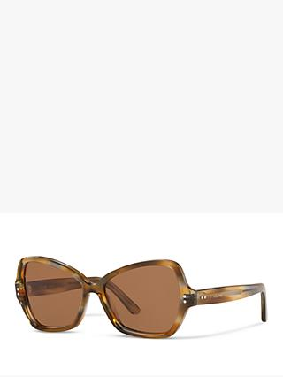 Celine CL40075I Women's Butterfly Sunglasses, Tortoise/Brown