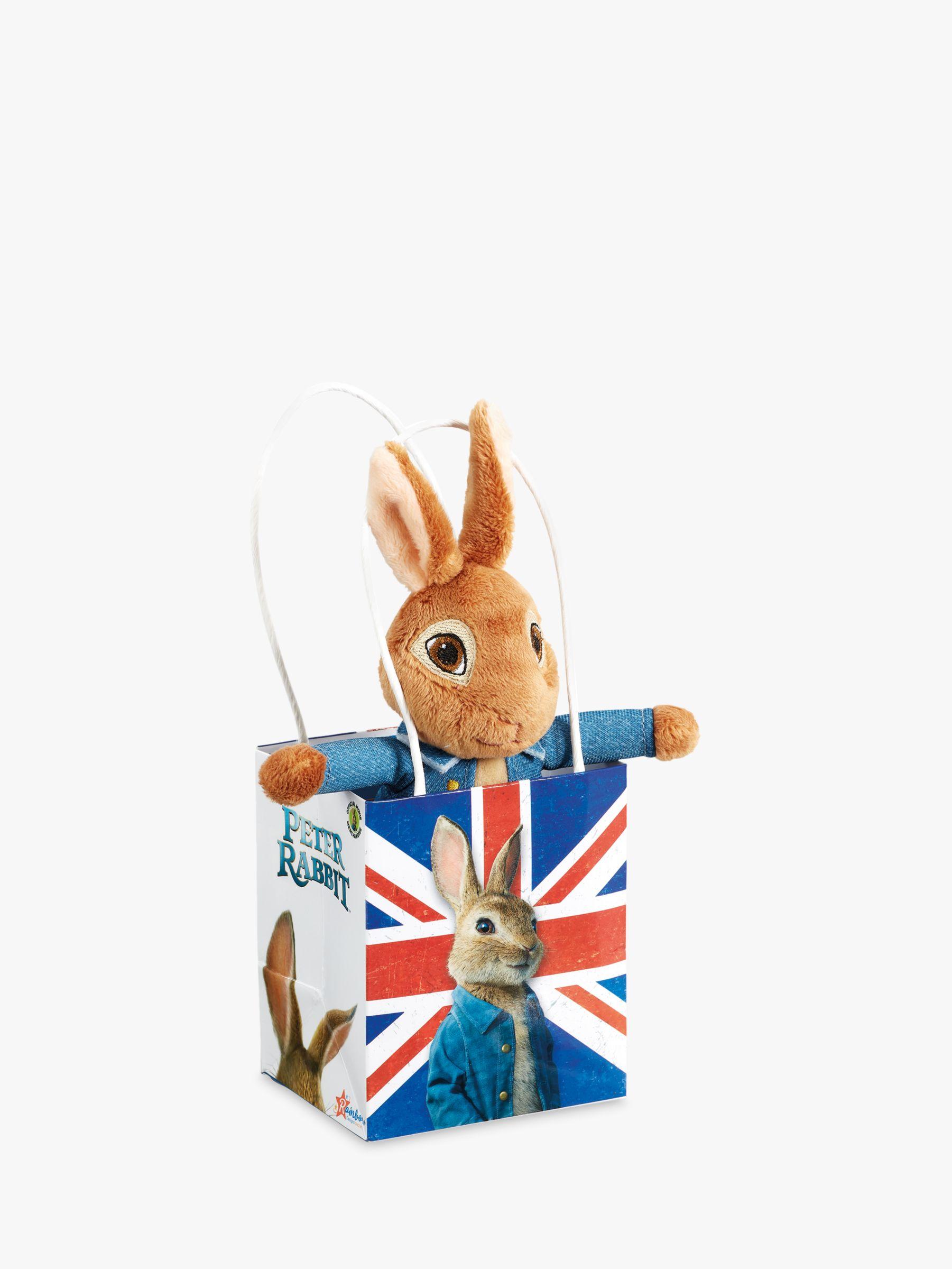 Beatrix Potter Beatrix Potter Peter Rabbit Movie Union Jack Bag Plush Soft Toy Baby Gift