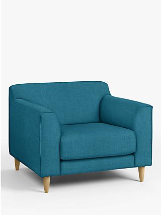 John Lewis & Partners Billow Armchair, Light Leg, Hatton Teal
