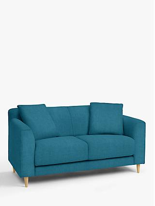 John Lewis & Partners Billow Small 2 Seater Sofa, Light Leg, Hatton Teal