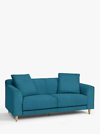 John Lewis & Partners Billow Large 3 Seater Sofa, Light Leg, Hatton Teal