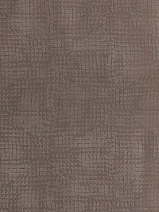 John Lewis & Partners Loki Squares Furnishing Fabric, Umber