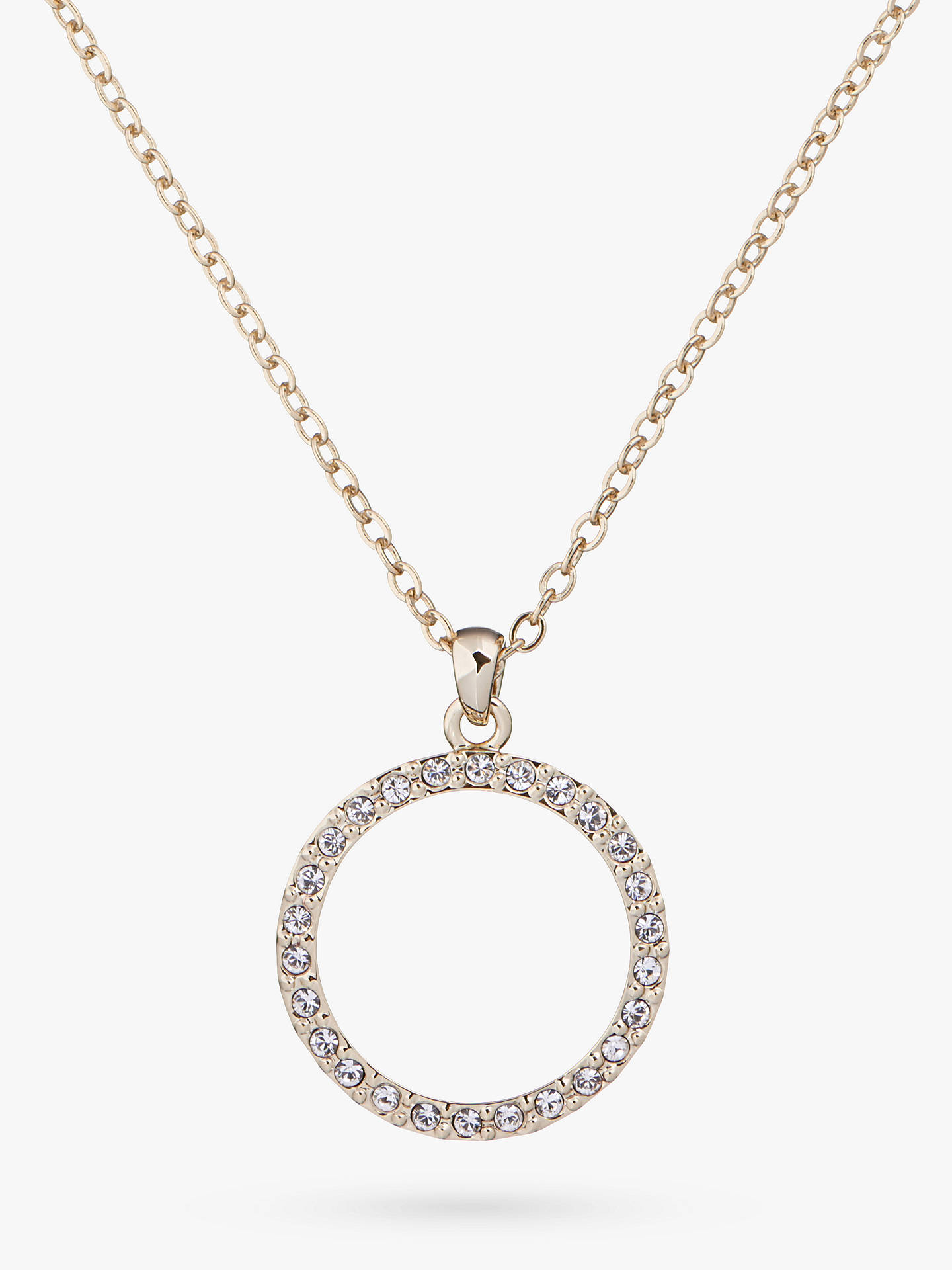 ac2157db32 Buy Ted Baker Linzzi Swarovski Crystal Luunar Pave Circle Pendant Necklace,  Gold Online at johnlewis ...