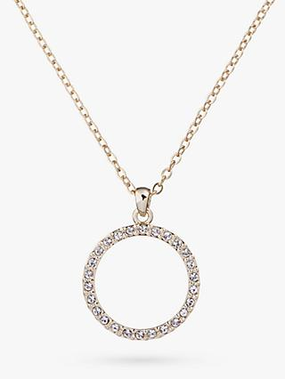 Ted Baker Linzzi Swarovski Crystal Luunar Pave Circle Pendant Necklace