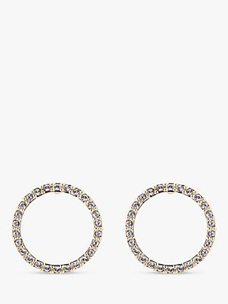 Ted Baker Leeiza Swarovski Crystal Luunar Pave Circle Drop Earrings