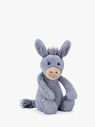 Jellycat Bashful Donkey Soft Toy, Medium