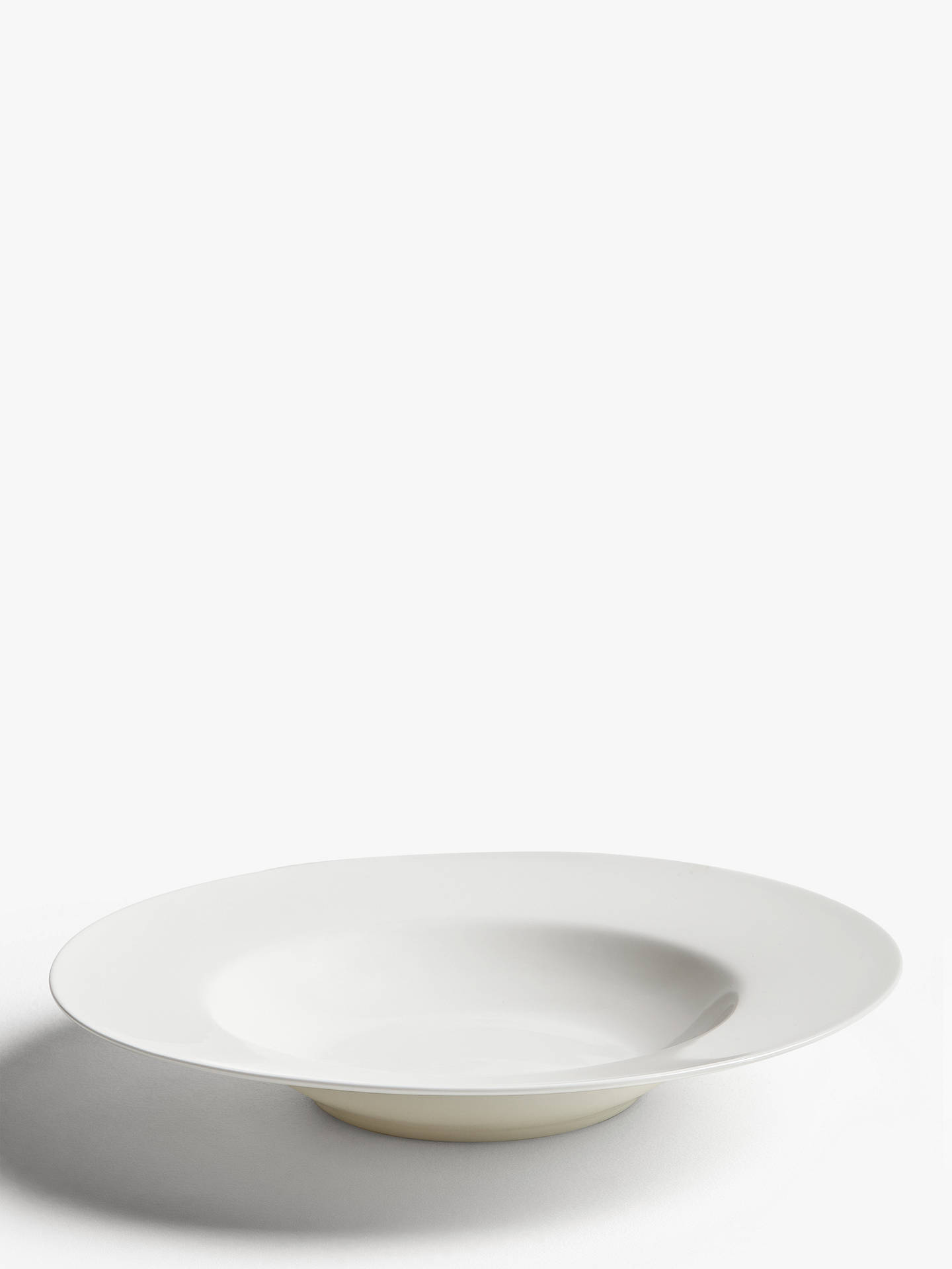 Buy John Lewis & Partners Rim Bone China Pasta Bowl, 28.8cm, White Online at johnlewis.com