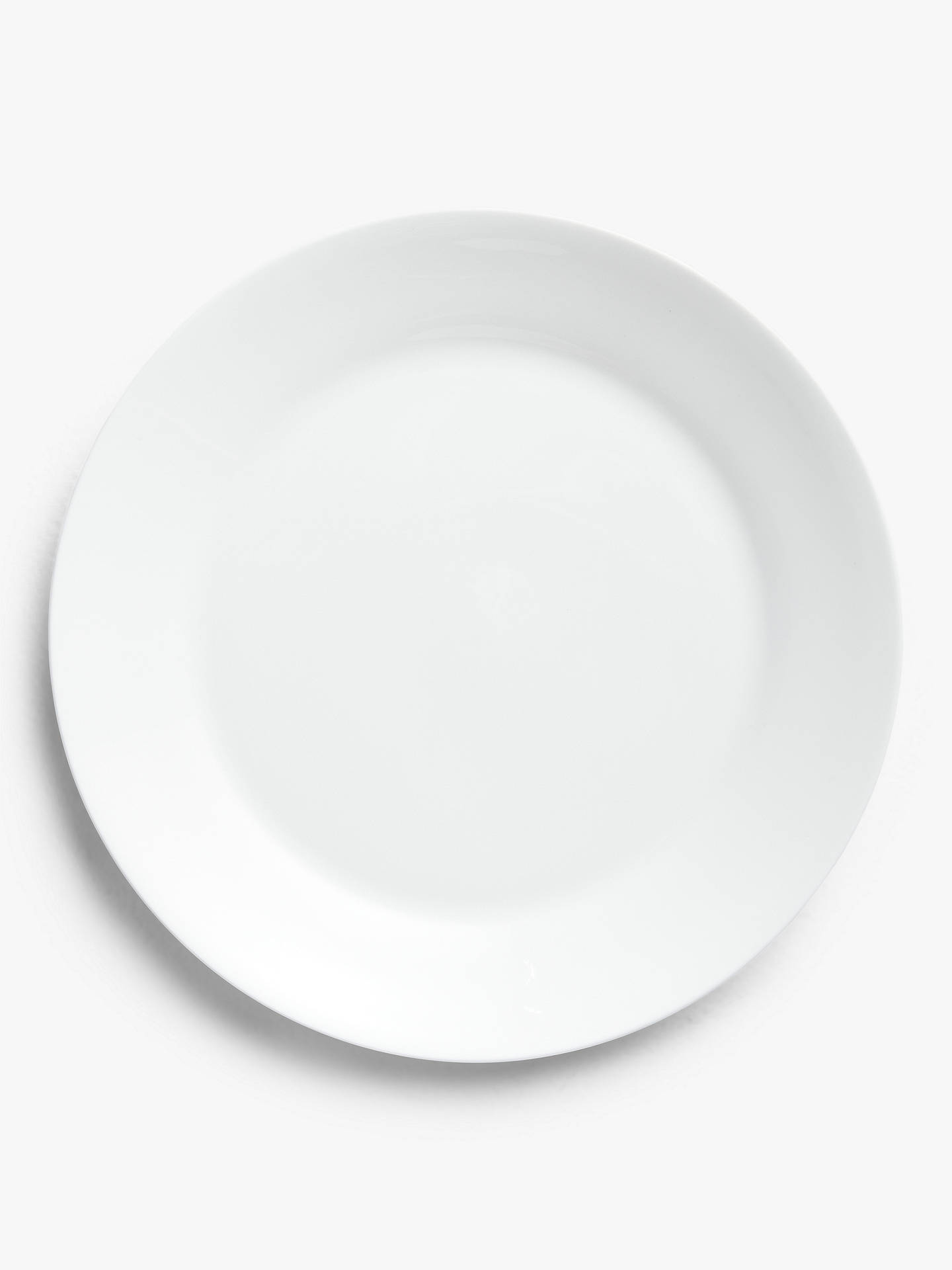 Buy John Lewis & Partners Rim Bone China Medium Plate, 23.2cm, White Online at johnlewis.com
