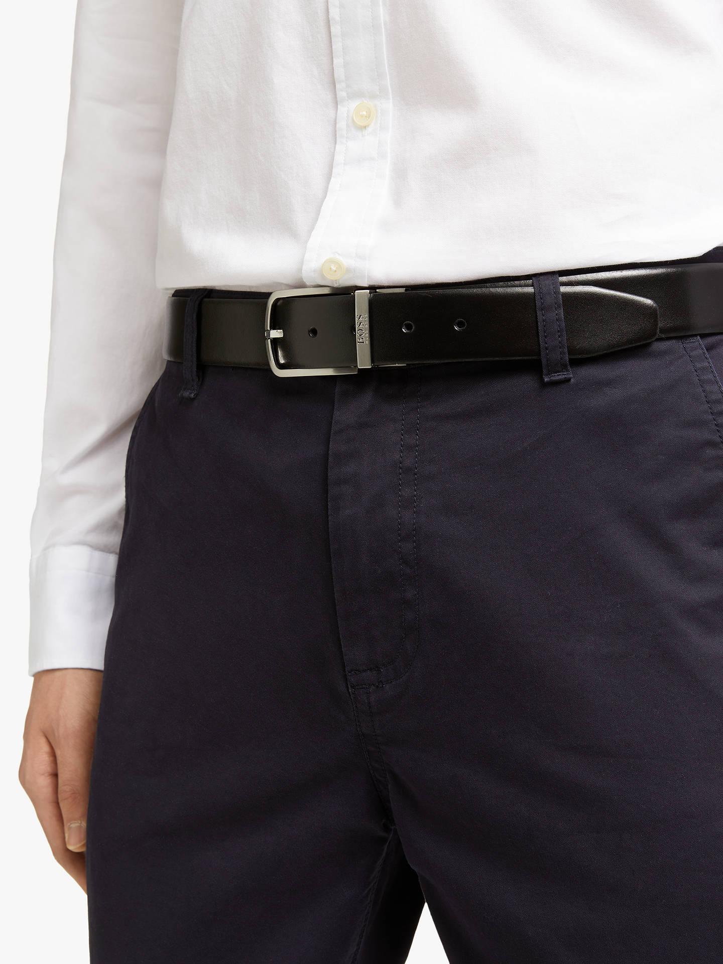 e4e761bb85 ... Buy BOSS Owen Reversible Leather Belt, One Size, Black/Brown Online at  johnlewis ...