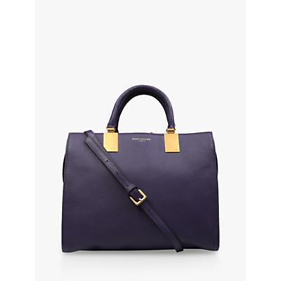 Kurt Geiger London Emma Leather Tote Bag, Purple