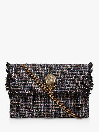 Kurt Geiger London Kensington Fabric Cross Body Bag, Blue/Multi
