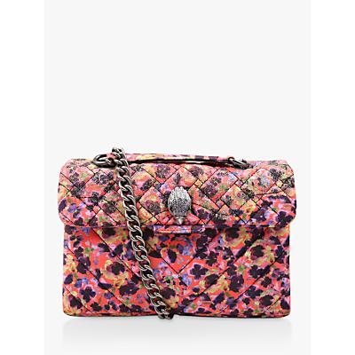 Kurt Geiger London Kensington Fabric Shoulder Bag, Orange/Multi