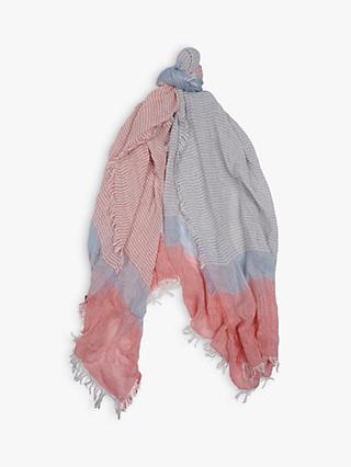 Barbour Whitmore Degrade Wrap, Pastel Blue/Pink