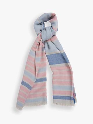 Barbour Freya Stripe Wrap, Blue/Pink