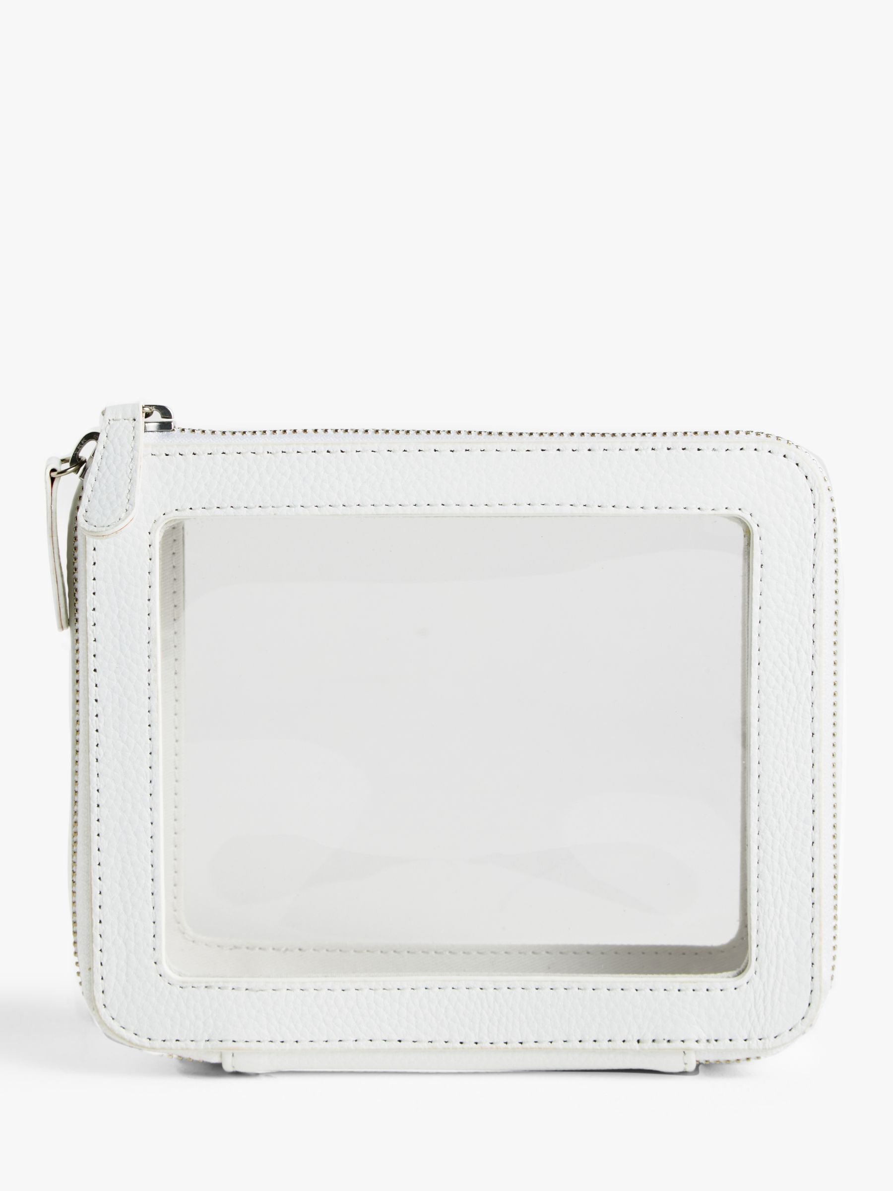 Buy John Lewis & Partners Leather Travel Wash Bag, White Online at johnlewis.com
