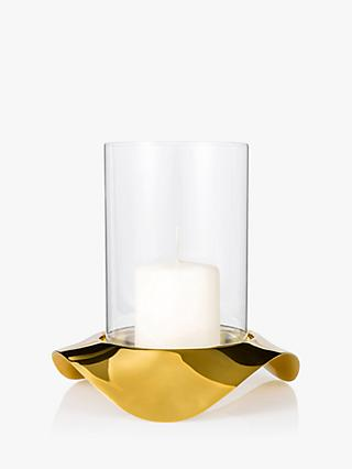 Robert Welch Drift Hurricane Lamp, Gold