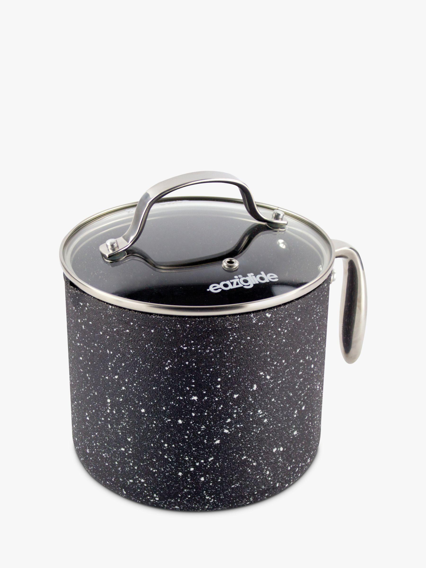Eaziglide Eaziglide Neverstick2 Non-Stick Sauce Pot and Lid, 16cm, Black