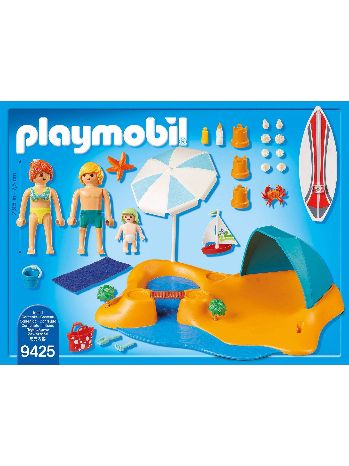 Buy Playmobil Family Fun 9425 Family At The Beach Online at johnlewis.com