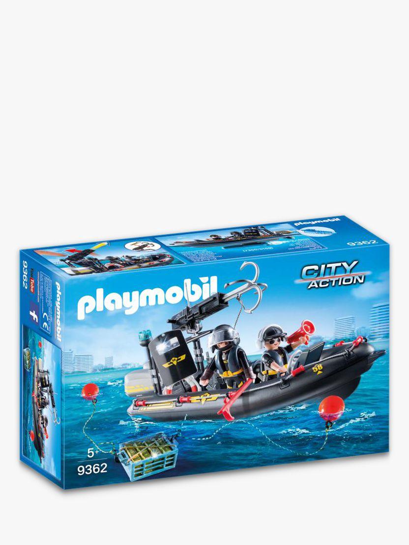 PLAYMOBIL Playmobil City Action 9362 SWAT Boat