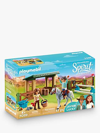 Playmobil Dreamworks Spirit Riding Free 70119 Riding Arena with Lucky and Javier