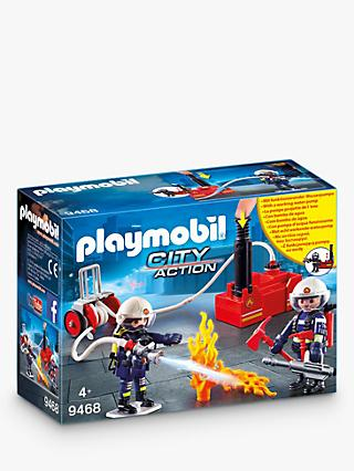 Playmobil City Action 9468 Firefighters With Water Cannon