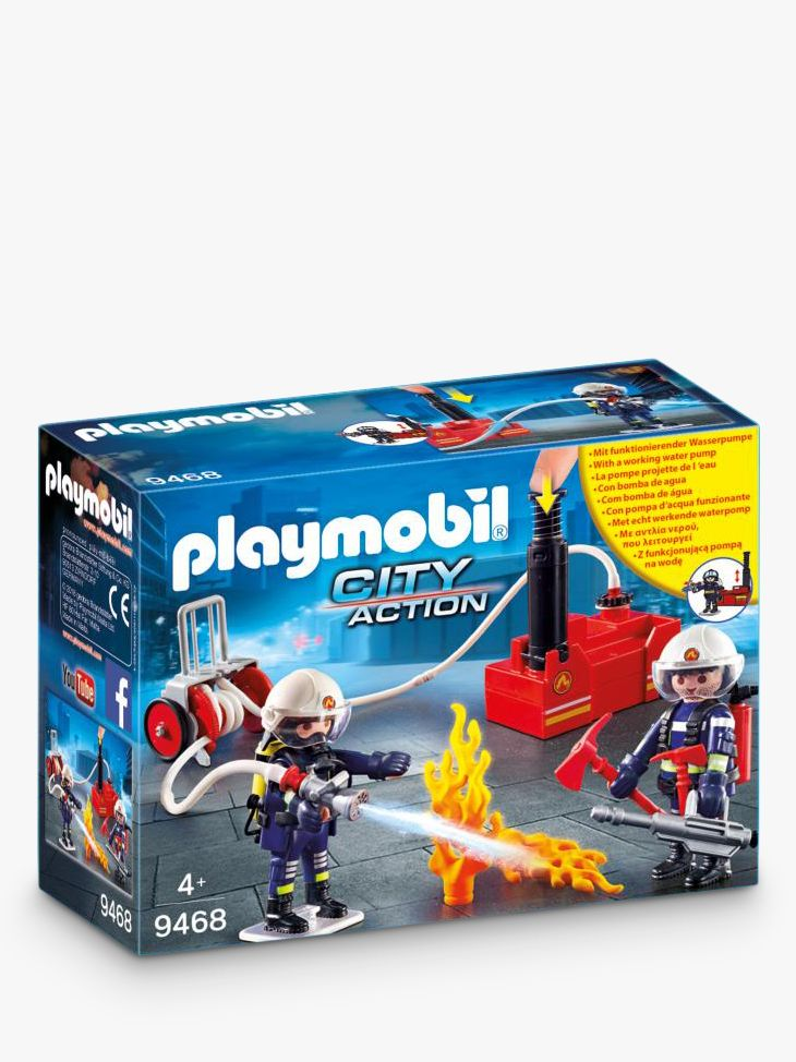 PLAYMOBIL Playmobil City Action 9468 Firefighters With Water Cannon