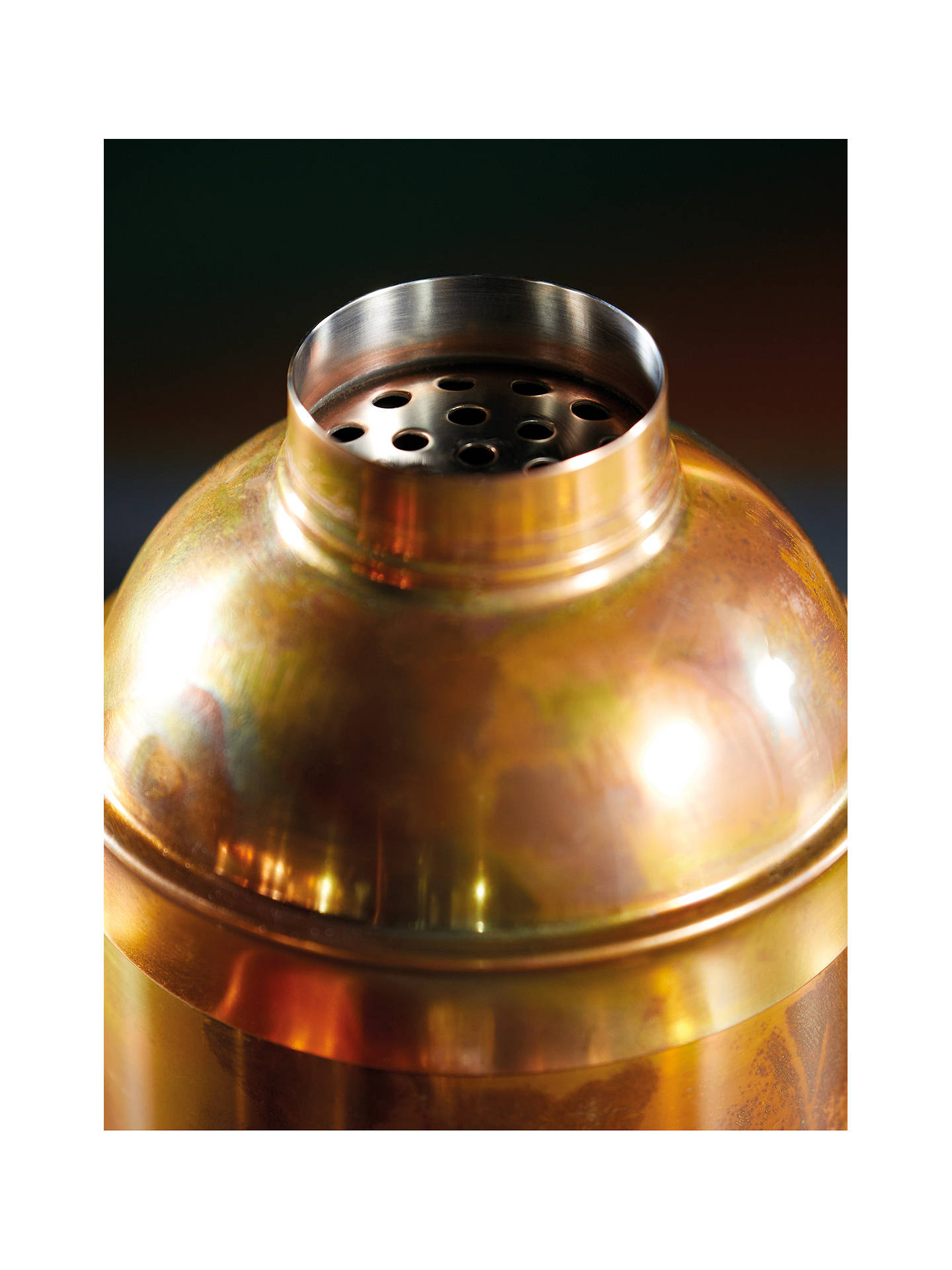 Buy Kitchen Craft BarCraft Stainless Steel Cocktail Shaker & Strainer, 700ml, Copper Online at johnlewis.com