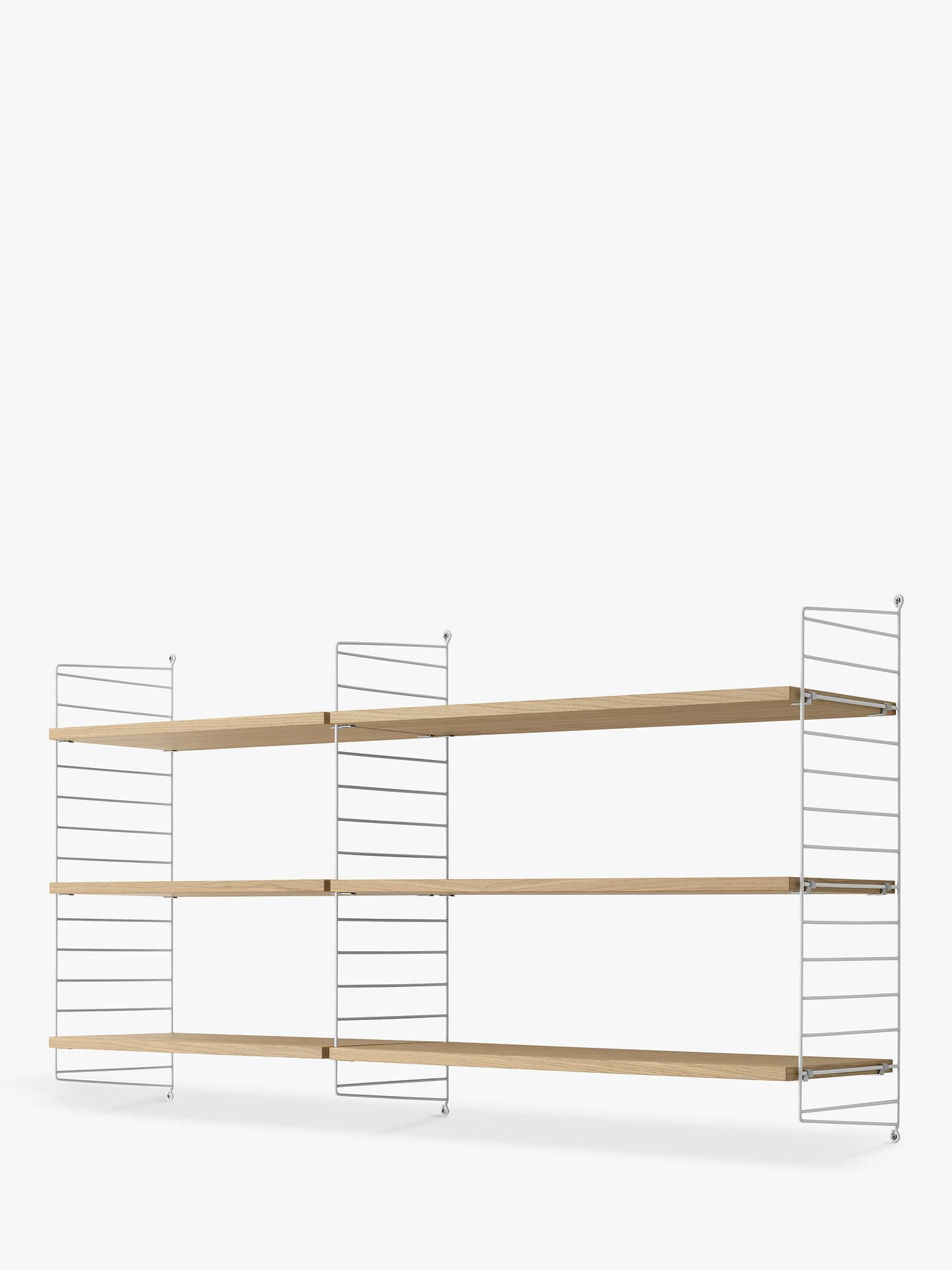 String Shelves And Wall Fastened Side Racks Oak White