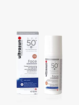 Ultrasun Face Anti-Age & Anti-Pigmentation Sun Cream SPF 50+, Sensitive Skin, 50ml