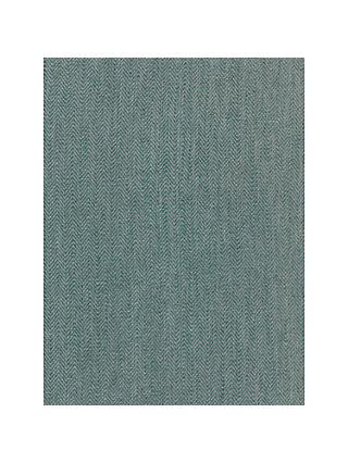John Lewis & Partners Herringbone Made to Measure Curtains or Roman Blind, Soft Teal