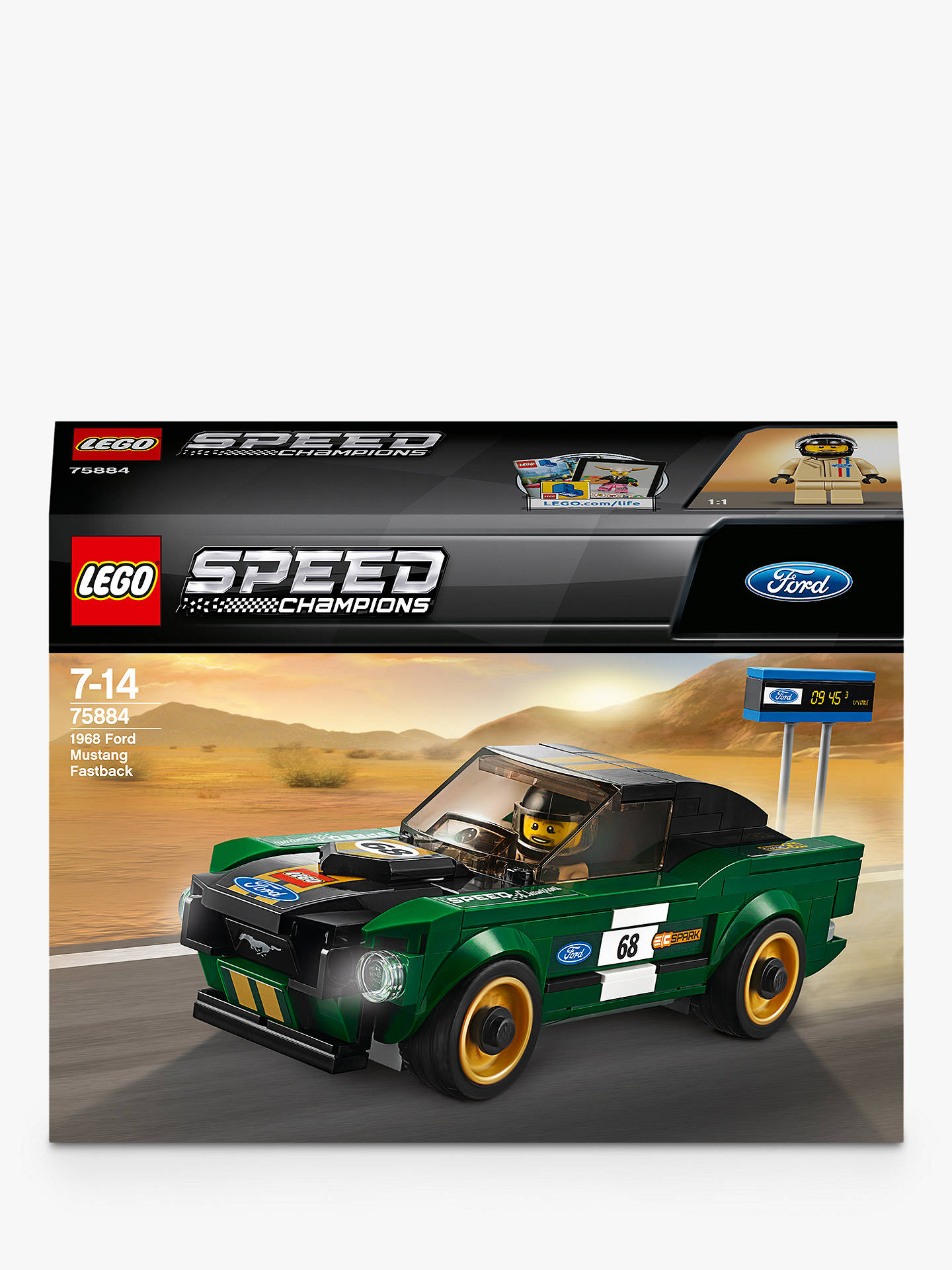 Lego speed champions 75884 1968 ford mustang fastback racing car
