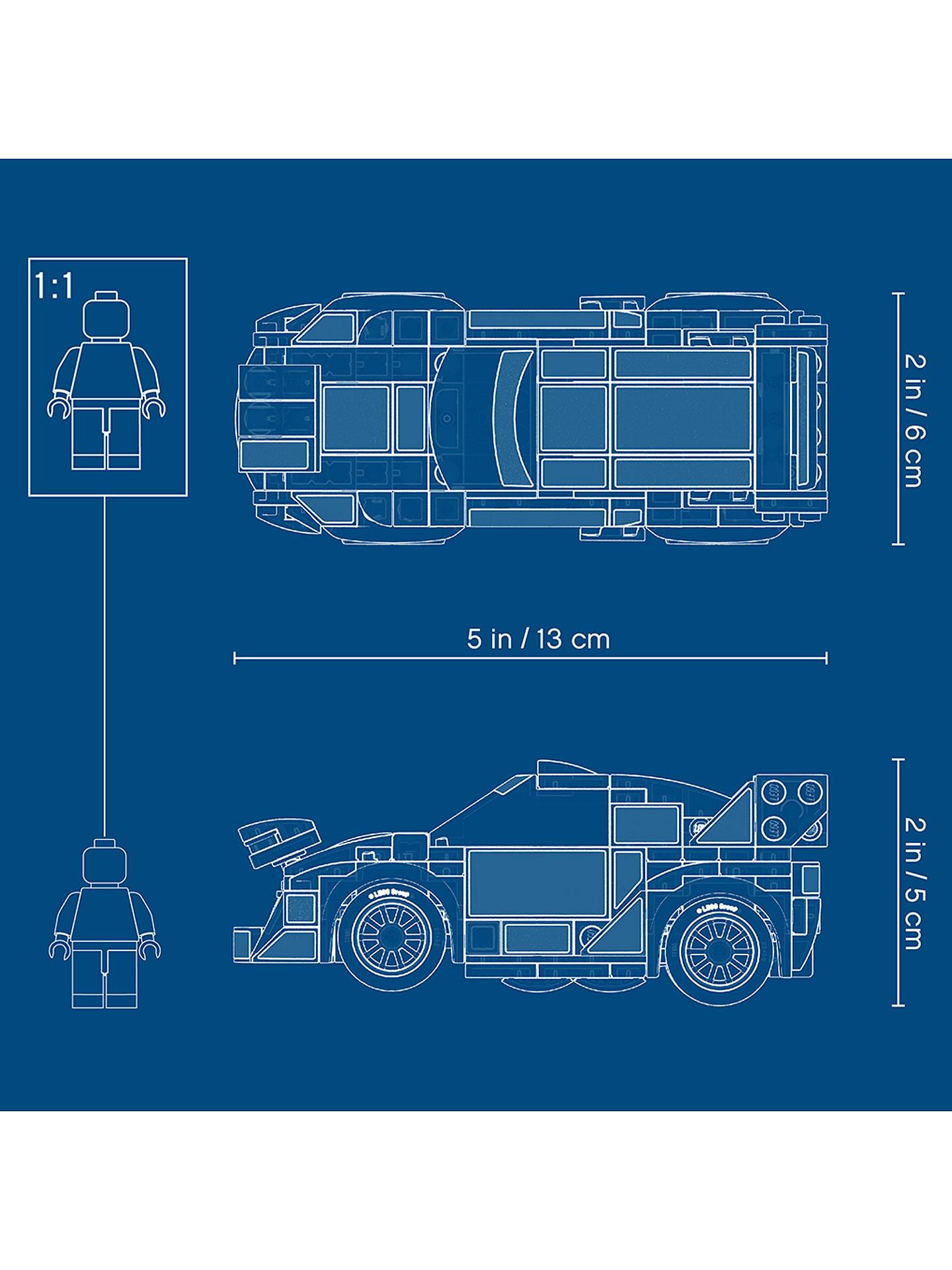 LEGO Speed Champions 75885 Ford Fiesta M-Sport WRC Racing Car