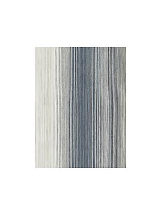 John Lewis & Partners Horizon Stripe Made to Measure Curtains, Indigo