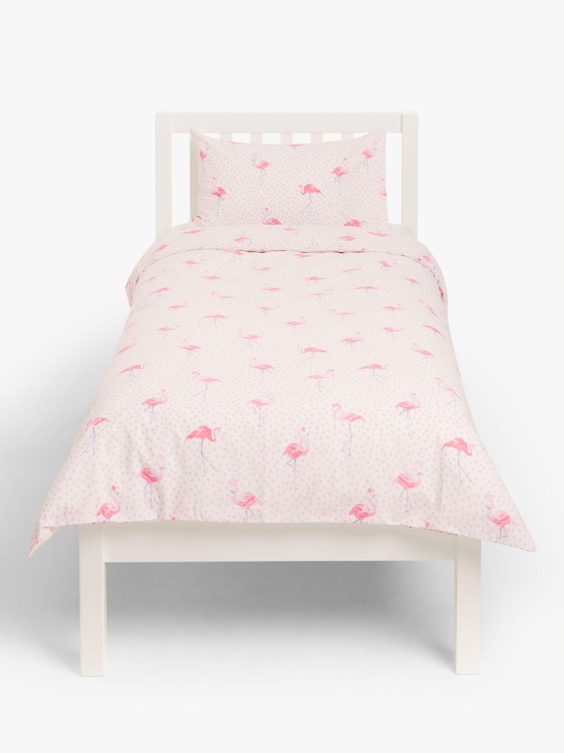 little home at John Lewis little home at John Lewis Phoebe Flamingo Duvet Cover and Pillowcase Set, Single, Pink