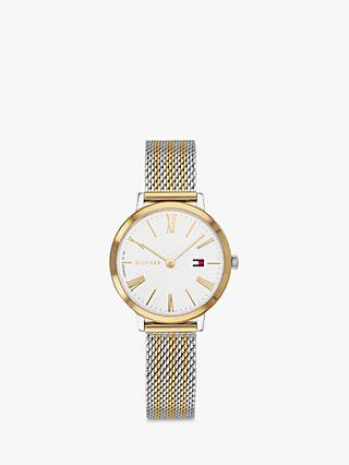 Tommy Hilfiger 1782055 Women's Casual Bracelet Strap Watch, Silver/Gold