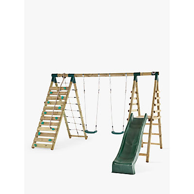 Plum Premium Woolly Monkey II Wooden Swing Set